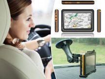 EURÓPA térképes GPS Navigáció +Telefon kihangosító + Video lejátszó és FM transzmitter!