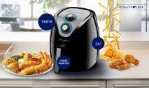 Air Fryer két gombos fritőz(FEKETE DOBOZOS)