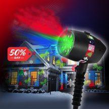 Lazer Shower Képeket Vetítő Karácsonyi fényjáték - 12 csodálatos mintával!