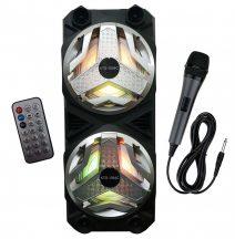Hordozható, Nagyméretű Karaoke Hangfal kiváló hangzással - Mikrofonnal, Távírányítóval!