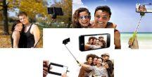 Összecsukható Selfie Bot markolatba épített kioldóval - ANDROID és IOS készülékekhez is!