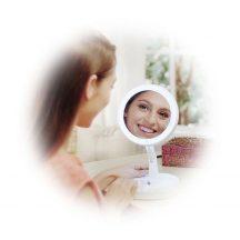 Smink és kozmetikai tükör LED lámpával - 10x nagyítású!