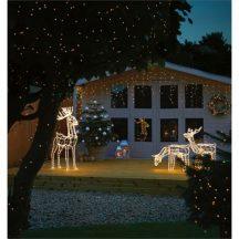 Világító szarvas szánnal - Kiváló dekoráció a karácsonyfa mellé, fedett teraszon, kertben, vagy a ház bármely pontján!