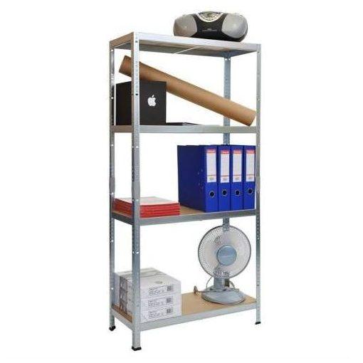 Nagy teherbírású acél állvány 138x70x30 cm, 4 polcos 50kg/polc - Masszív, tartós, praktikus!