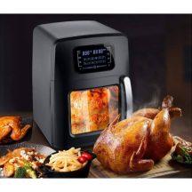 EXTRA NAGY ROYALTY LINE Digitális kijelzős Légkeveréses sütő - Forgó grill funkcióval is +Receptkönyv!!