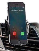 Stabil szellőző rácsra tehető biztonságos telefontartó - Nincs fúrás vagy leeső tapadókorong!