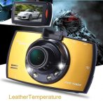 MAGYAR MENÜS FULLHD Nagylátószögű Kompakt Autós Kamera - Nagy színes monitorral +G-SENSOR automata felvétel indítással!