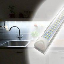 Dupla soros T8 LED fénycső armatúrával 192 db SMD LED, 120 cm hosszú, 18W - Nem vibrál, óvja a szemet!