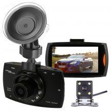 DUPLA KAMERÁS FULL HD AUTÓS ESEMÉNYRÖGZÍTŐ KAMERA – Első +Tolató kamera egyben ennyiért!