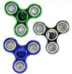 3 db Fidget Spinner Pörgettyű, Vegyes színben - Fémes hatású!