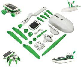 Játékrobot, SOLAR ROBOT KITS - 6 az 1-ben Napelemes játékszett!