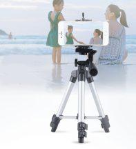 Nagy Tripod - Nagy méretű, három lámbú kamera és telefontartó!
