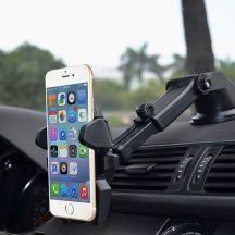 Állítható autós biztonsági telefontartó - Erősen tart, elforgatható, könnyű beállítani a megfelelő irányba!
