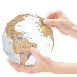 3D-s Kaparós Világtérkép, Földgömb makett - A kaparós térképek családjának legújabb tagja!
