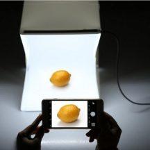 Hordozható Mini fotó Studió - Segítségével bárhol profi képeket készíthetsz!