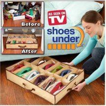 10 RÉSZES ÁGYALATTI CIPŐTÁROLÓ - Tárold praktikusan cipőidet a szekrény, vagy ágy alatt!