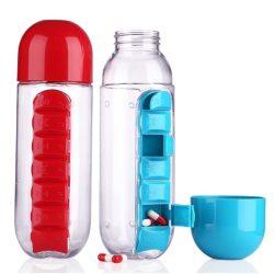 Vitamintartós kulacs - Napokra bontva tárolhatod a vitaminokat, táplálékiegészítőket!