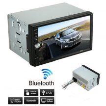 Magyar Menüs Mp5 Autórádió 7colos, 2Dines, 4*60 W-os, Bluetooth-os - Nagy, érintőkijelzős LCD monitorral!