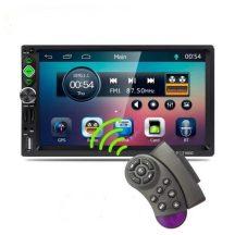 """GPS Navigációs, Magyar menüs 7"""" LCD Bluetooth Autórádió - Képernyő tükrözéssel, Kormányvezérlővel!"""