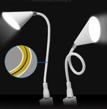 Hattyúnyak Bluetooth Hangszoró és lámpa egyben -Fehér-