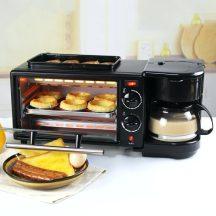 Családi Multifunkciós Reggeliző állomás - 3 az egyben reggeli készítő gép, grill funkcióval, kávéfőzővel, kenyérpirítóval!