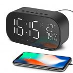 YAYUSI Tükörképernyős Ébresztőórás Bluetooth hangszóró - Rengeteg hasznos funkcióval!