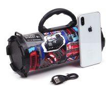 Divatmintás Bluetooth hangszóró, DW-520 - FM rádióval, Aux bemenettel, USB, SD bemenettel!