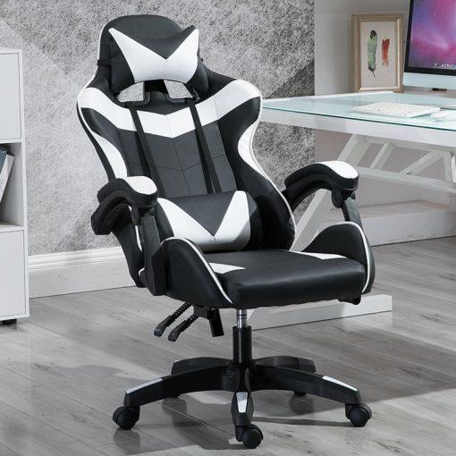 Gamer szék Racing Pro X, Fehér-Fekete - Élvezd ezt a kényelmes széket a következő ezer órában!