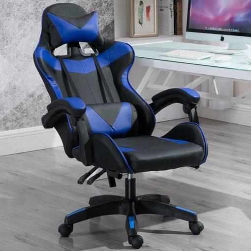 Gamer szék Racing Pro X, Kék-Fekete - Élvezd ezt a kényelmes széket a következő ezer órában!
