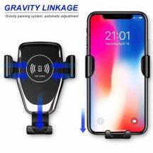 Autós Vezeték nélküli Telefontöltő és tartó egyben - Kábel nélküli töltés egyszerűen, Qi szabvány!