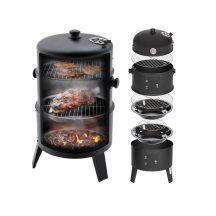 KIÁRUSÍTÁS! 3 Rácsos, Faszenes BBQ Grill és Smoker - Füstölésre és Grillezésre!
