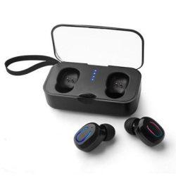 T18S vezeték nélküli BT fülhallgató töltő dokkolóval