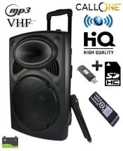 ÓRIÁS Akkumulátoros aktív Hangfal - Vezeték nélküli Mikrofonnal, Bluetooth funkcióval!