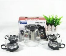 5 részes üveg teáskészlet