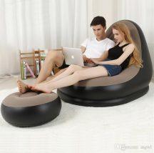 Kényelmes felfújható fotel, lábtartóval - Otthonra, vagy utazáshoz!