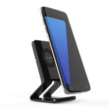 Asztali QI vezeték nélküli telefon gyorstöltő és tartóállvány