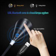 Hattyúnyak Bluetooth Hangszoró és lámpa egyben -Fekete-