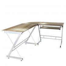 L alakú íróasztal, Barna