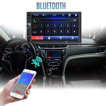 Magyar menüs, 2Din-es, 7 colos Mp5 autórádió multimédiás rendszer, 4*60W - Képernyő tükrözéssel, Kormányvezérlővel!