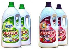 4 X 4 l SILKYLUX Mosógél +Ajándék - Nagy koncentrációjú Prémium mosógél színes és fehér ruhákhoz!
